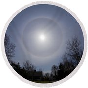 Solar Halo Round Beach Towel