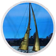 Solar Sail Round Beach Towel