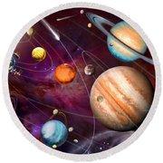 Solar System 2 Round Beach Towel