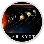 Solar System Poster Round Beach Towel by Stocktrek Images