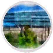 Soldier Field Chicago Photo Art 01 Round Beach Towel