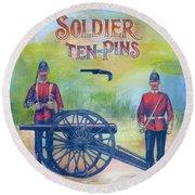 Soldier Ten-pins Round Beach Towel