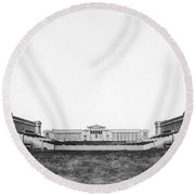 Soldiers' Field And Museum Round Beach Towel