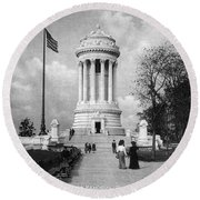 Soldiers Memorial - Ny Round Beach Towel