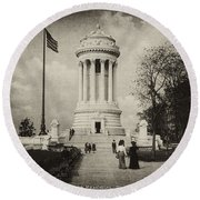 Soldiers Memorial - Ny - Toned Round Beach Towel