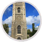Soldiers Tower 4 Round Beach Towel