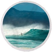 Sole Surfer Round Beach Towel