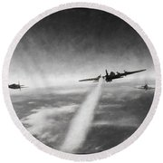 Wounded Warrior - Charcoal Round Beach Towel