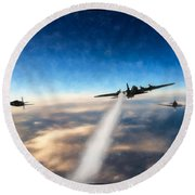 Wounded Warrior - Pastel Round Beach Towel