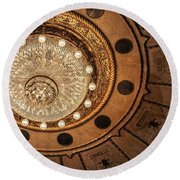 Solis Theater Ceiling Round Beach Towel