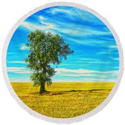 Solitario Round Beach Towel
