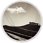 Solitary Cloud Round Beach Towel