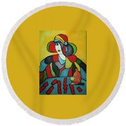 Solitary Round Beach Towel