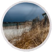 Solitude On The Cape Round Beach Towel by Jeff Folger