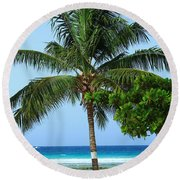 Solo Palm Round Beach Towel