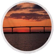 Solomon Bridge Round Beach Towel