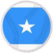 Somalia Flag Round Beach Towel