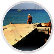 Some Day Soon Round Beach Towel