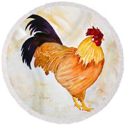 Some Days You Have To Paint A Rooster Round Beach Towel
