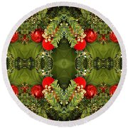 Some Of The Colors Of Christmas Altered Version  Round Beach Towel