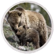 Someone To Watch Over Me Round Beach Towel