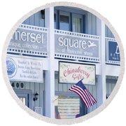 Somerset Square 1 Round Beach Towel