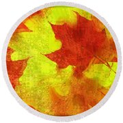 Something Like Autumn Round Beach Towel