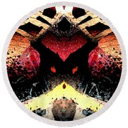 Somewhere Between Above And Below Round Beach Towel