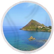 Algeria- Djidjelli Coast Round Beach Towel