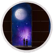 The View To Infinity Round Beach Towel