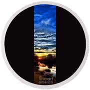 Somewhere On Earth Round Beach Towel