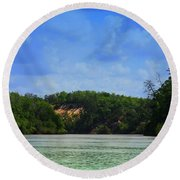 Somewhere On The River Round Beach Towel