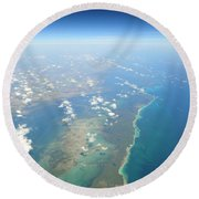 Somewhere Over Cuba Round Beach Towel