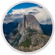 Somewhere Over Half Dome Round Beach Towel