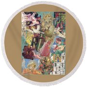 Song Of Angels Round Beach Towel