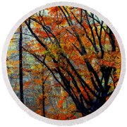 Song Of Autumn Round Beach Towel