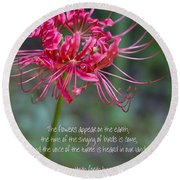 Song Of Solomon - The Flowers Appear Round Beach Towel