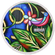 Songbird Round Beach Towel