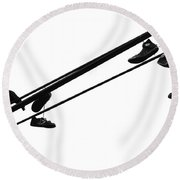 Songs Of A Broken Wing Round Beach Towel