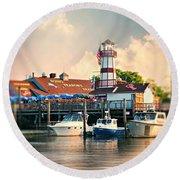 Sono Seaport Seafood Round Beach Towel