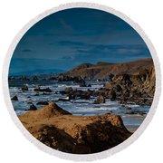 Sonoma Coast Round Beach Towel by Bill Gallagher