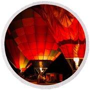 Sonoma County Hot Air Balloon Classic Round Beach Towel