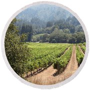 Sonoma Vineyards In The Sonoma California Wine Country 5d24515 Square Round Beach Towel