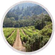 Sonoma Vineyards In The Sonoma California Wine Country 5d24518 Round Beach Towel