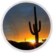 Sonoran Desert Sunrise 4 Round Beach Towel