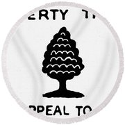 Sons Of Libery Symbol, 1776 Round Beach Towel