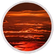 Soothing Saturday Sunset Round Beach Towel