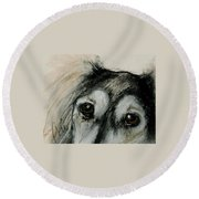 Sophia's Eyes Round Beach Towel