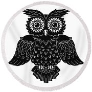 Sophisticated Owls 1 Of 4 Round Beach Towel