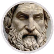 Sophocles Round Beach Towel